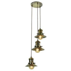 Small Edison 3 light cluster by the limehouse lamp co
