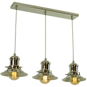 Small Edison 3 light pendant by the limehouse lamp co