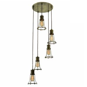 Marconi 5 Light Cluster by the limehouse lamp co
