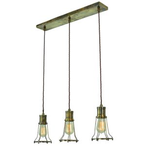 Marconi 3 light pendant by the limehouse lamp co