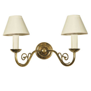 Cottage Twin Wall Light made by the limehouse lamp co