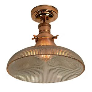 The Prismatic Railroad Flush Light by the limehouse lamp co