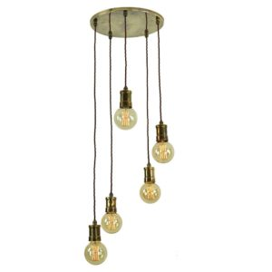 Tommy 5 Light Cluster by the limehouse lamp company