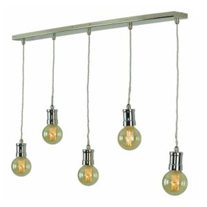 Tommy 5 Light Pendant by the limehouse lamp co