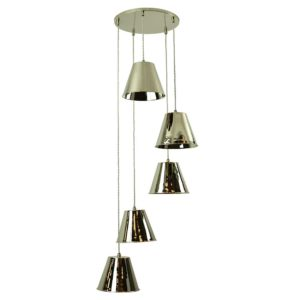 The Map Room 5 Light cluster by the limehouse lamp company