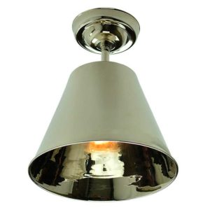 Map Room Flush Ceiling Light by the limehouse lamp company