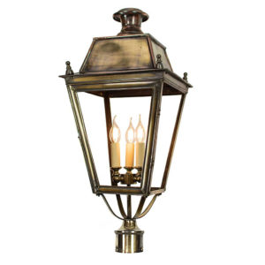Balmoral With 3 Post Mount Large With Three Light Cluster 425ap3pm The Limehouse Lamp Company